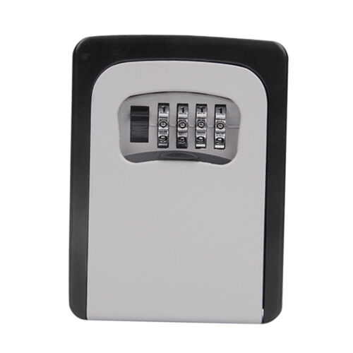 Wall Mount Key Box /&4 Digit Combination Home Security Lock Safe Storage Gray