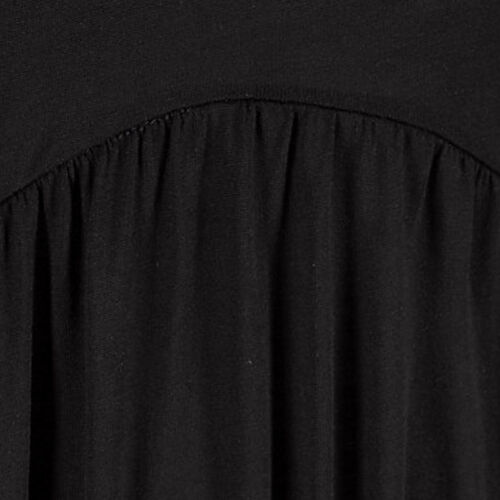 Superbe Mini Robe en Noir Taille 40 L plage robe robe d/'été Jersey Shirt Robe