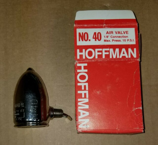 "40 Hoffman Specialty Air Valve Radiator Angle Type 1//8/"" Connection No"