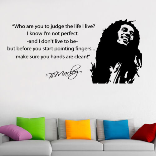 Bob Marley Famous Wall Art Quote Vinyl Decal Sticker Transfer ...