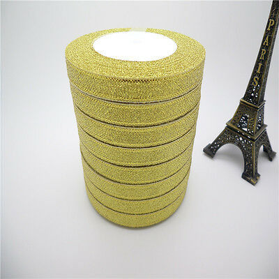 """NEW DIY 3/8 """"10mm glitter ribbons Bling for Bows and Wreaths decorated many pick"""