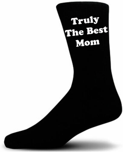 A Great Gift For Mothers Day. Truly The Best Mom Black Novelty Socks