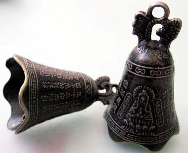 5Pcs Copper Coated Tibetan Buddhist Bodhisattva Word Ancient Clock Beads Finding