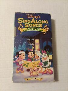 Very Merry Christmas Songs Disney Sing Along VHS Volume 8   eBay
