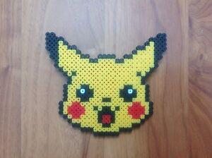 Détails Sur Mignon Pikachu Pokemon Perler Bead Pixel Art Afficher Le Titre Dorigine