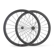 Lightweight 1130g 700C 23mm Width 38mm Tubular Carbon Wheels Road Bike Wheelset