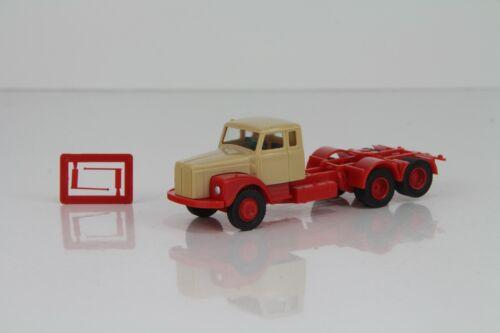 VK Modelle Scania 111 Hauber Zugmaschine beige//rot Nr 77034 //VKN26