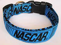 Charming Blue & Black Nascar Racing Dog Collar