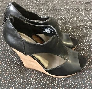 Mossimo-Women-s-Shoes-Mules-Black-Slip-On-Sz-10m-Open-Toe-Brown