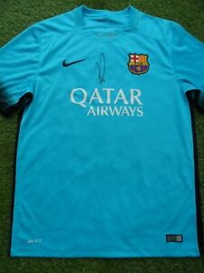 official photos a0a0b 7a437 Details about Ousmane Dembele Hand Signed FC Barcelona Away Football Shirt  - France Autograph