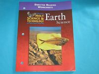 Paperback Holt Science & Technology Earth Science Directed Reading Worksheets