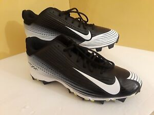 sports shoes 60c32 e9e20 Image is loading Nike-Vapor-684698-010-Men-Black-White-Baseball-