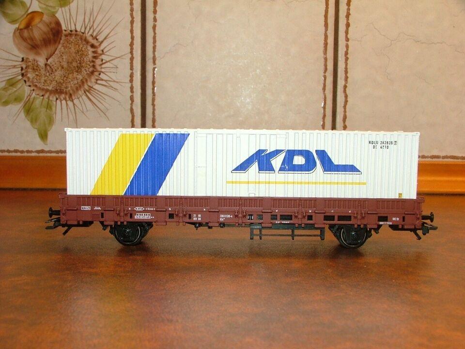Modeltog, Märklin 00760-12 DB lavsidet godsvogn m