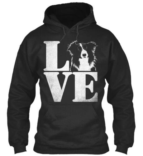 I Love Border Collie Dog Lve Standard College Hoodie