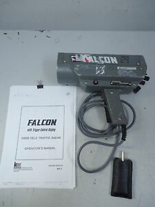 KUSTOM FALCON HAND HELD Bt1 vl K-BAND RADAR LIDAR SPEED ...
