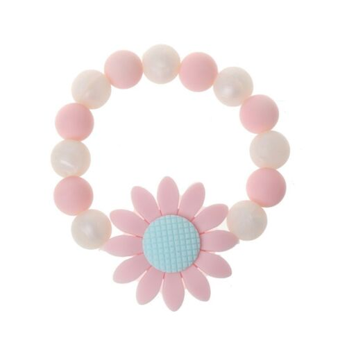 Baby Nursing Bracelets Sunflower Silicone Chew Beads Teething Rattles Toys
