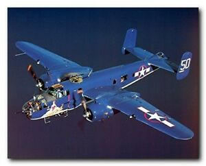 WWII-B-25-Mitchell-Bomber-Military-Airplane-Aviation-Art-Print-Poster-16x20