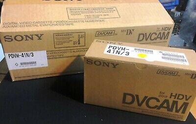 10 Pack - Sony Hdv (63min) / Dvcam (41min) Mini Dv Tape Pdvm-41n Om Een Hoge Bewondering Te Winnen