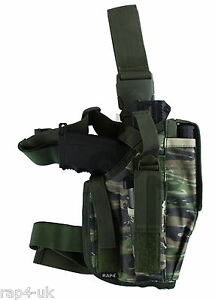 ef965aa5f4a75 Image is loading Tactical-Leg-Holster-Right-Hand-Large-Tiger-Stripe-