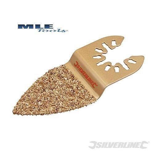 #539409 Silverline Tungsten Carbide Finger Rasp Oscillatting Multi tool grout