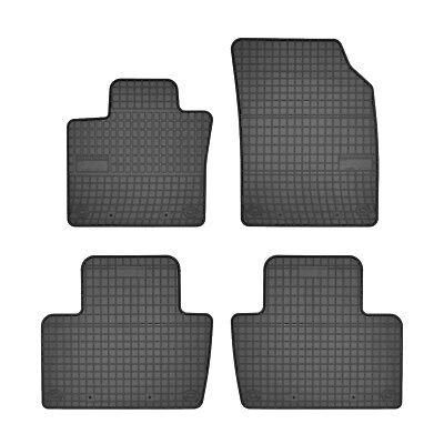 4-teilige schwarze Gummifußmatte für VOLVO V40 Bj ab 2012