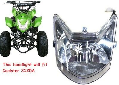 4 Wires ATV QUAD FRONT HEADLIGHT LIGHT HEAD LIGHT FOR COOLSTER 3125A 125CC NEW