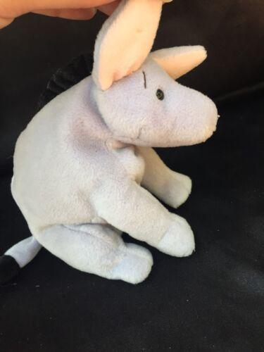 "Disney GUND Classic Pooh Eeyore Stuffed Bean Bag Animal 6"" Plush Purple Donkey"