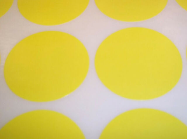 45mm Colour Code Dots Circles Sticky Labels Blank Price Stickers 6 Sizes15 Cols.