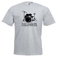 DRUMMER DRUMS MUSIC BAND FUNKY COOL T-SHIRT ALL SIZES