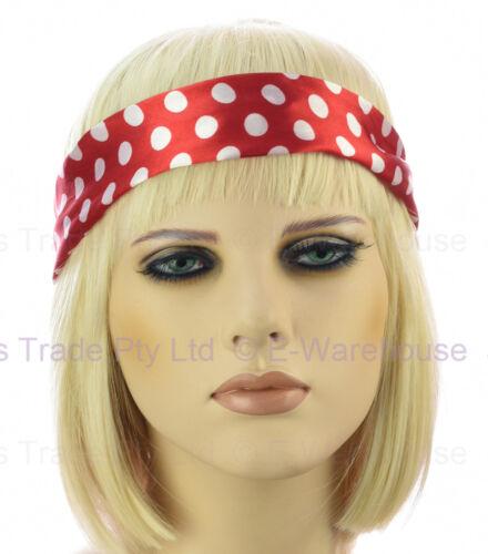 Wire Hair Head Band Bow Scrunchie Retro 70s 80s Party Costume Turban Headban
