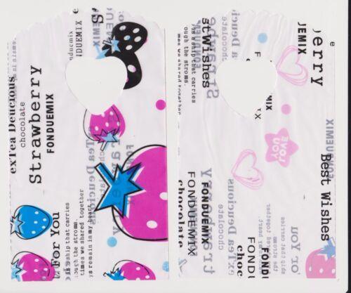 25 sacchetti Borse 14,5x9cm Sacchetti di Regalo erdbeermix tg buste di plastica