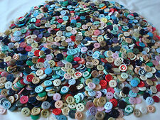 (2) Lb Pound BRIGHT~DIME SIZE~BUTTONS~TONS OF COLOR~Sewing~Quilting~Jewelry