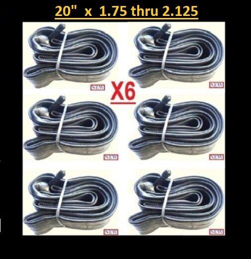 20  Bicycle Bike Cycle 20 inch x1.75 thru 2.125 Inner Tube New x6