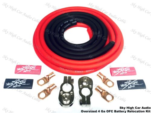 3 W// TERMINALS IMCA UMP K9 OVERSIZED 4 ga OFC Battery Cable Relocation Kit 16/'
