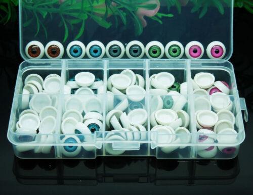 100pcs//box 12mm Doll Eyeballs Half Round Acrylic Eyes for DIY Doll Bear Crafts