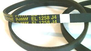 EL1258J4 Courroie MEGADYNE EL 1258 J4 pour lave linge