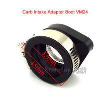 Carb Intake Adapter Boot Rubber Pipe Flange For Mikuni VM24 Keihin PE2 Pit Bike