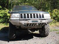 1993-98 Jeep Grand Cherokee Zj Winch Plain Front Bumper