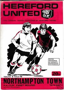 HEREFORD  UTD  V  NORTHAMPTON  TOWN  FA CUP  241179 - Bromley, United Kingdom - HEREFORD  UTD  V  NORTHAMPTON  TOWN  FA CUP  241179 - Bromley, United Kingdom