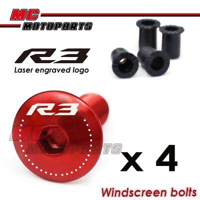Engraving GSX-R Logo Red Windscreen Fairing Bolts GSX-R 1300 1340 Hayabusa
