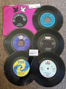 Northern-Soul-LOT-of-6-SOUL-45-039-s-mix-70t-039-s-L-K