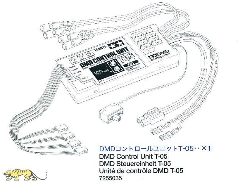 DMD unità di controllo t-05 per TAMIYA Sherman (56014) 1 16 - TAMIYA 7255035