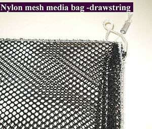 Nylon mesh media bag heavy duty pond use for filter foam for Fish pond filter mesh