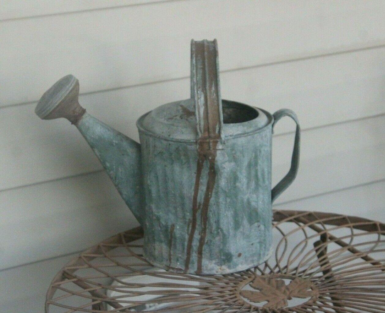 Vintage Galvanized Garden Watering Can with Sprinkler Head ~ Works Great