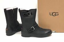 Ugg Australia Jenise Black Stud Boots 1018997 Waterproof WP Buckle Deco Women's