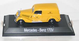 SCHUCO-MERCEDES-170-V-encadre-voiture-la-poste-02255-1-43-voiture-miniature-Nouveau-Top-neuf-dans-sa