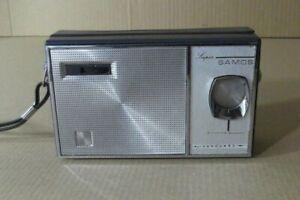 Radio Transistor Portable Vanguard Super Samos OM Work Vintage Spain