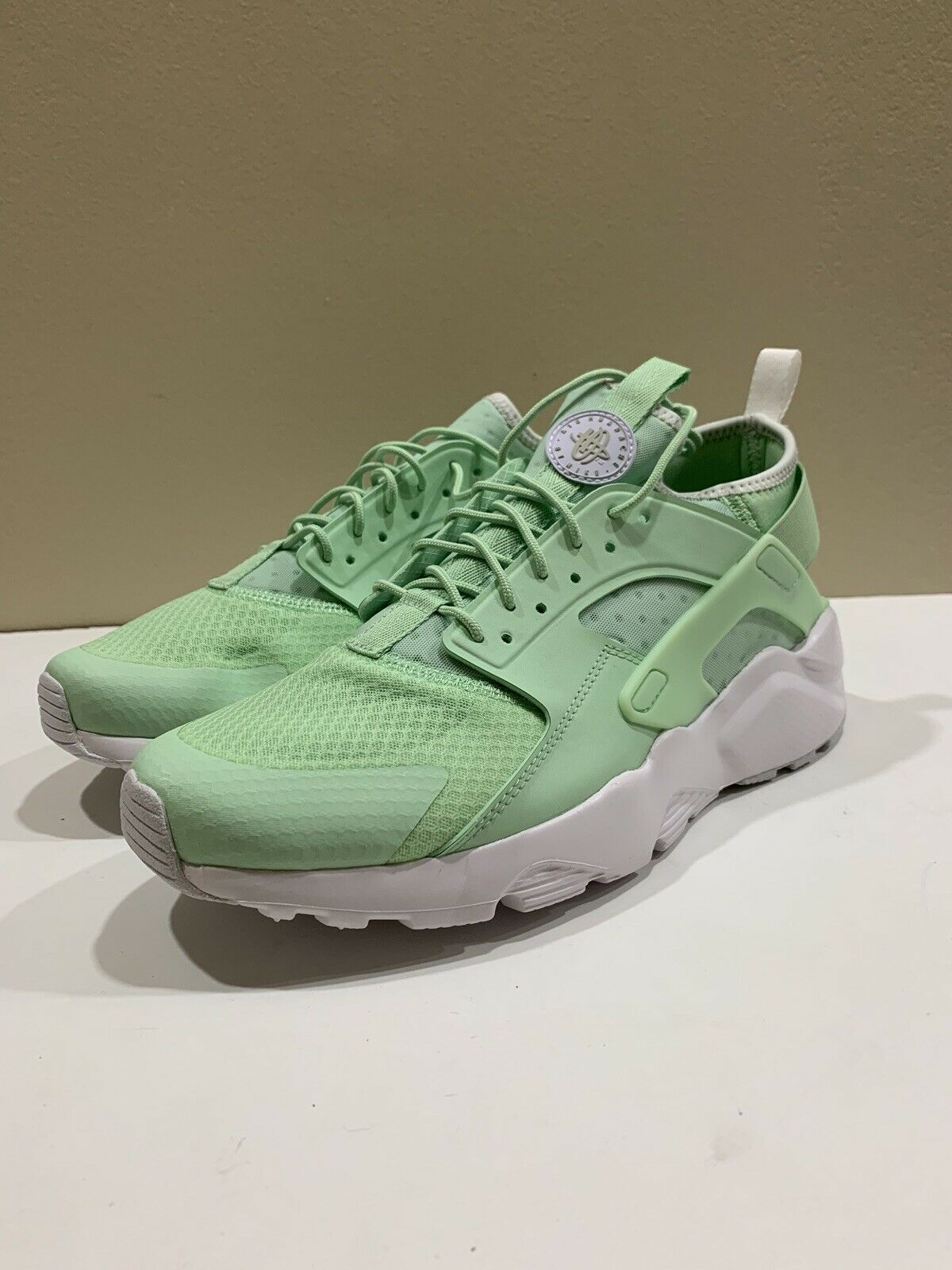 Nike Air Huarache Run Ultra Fresh Mint White Running shoes 819685-302 Mens Sz 10