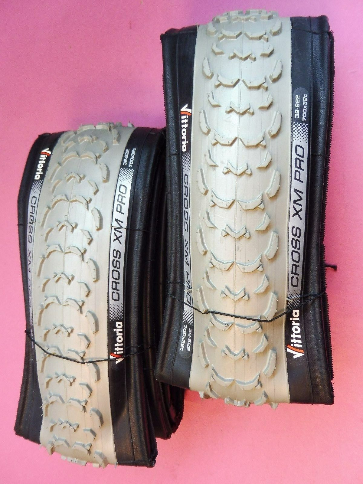 Two - Vittoria Cross XM Pro 700 - 32 tyres (Folding) NOS