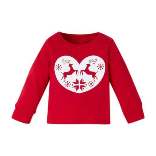 Children Kids Baby Girls Christmas Long Sleeve T Shirt Tops Pants Outfits Set